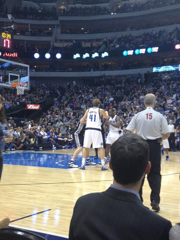 Seat view from Courtside VIP S at the American Airlines Center, home of the Dallas Mavericks