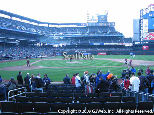 Seat view from section 1 at Citi Field, home of the New York Mets