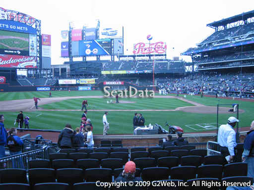Seat view from section 10 at Citi Field, home of the New York Mets
