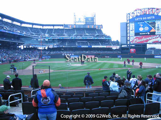 Seat view from section 11 at Citi Field, home of the New York Mets