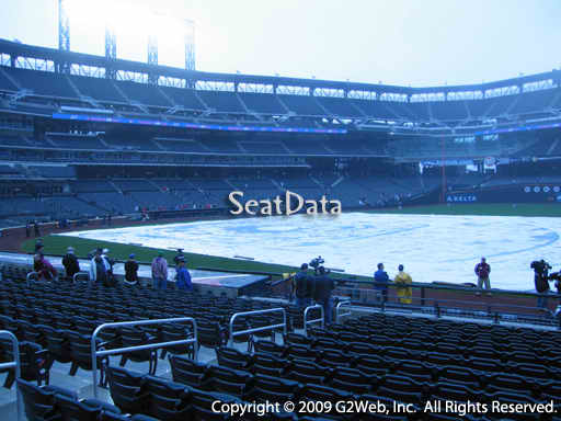 Seat view from section 111 at Citi Field, home of the New York Mets