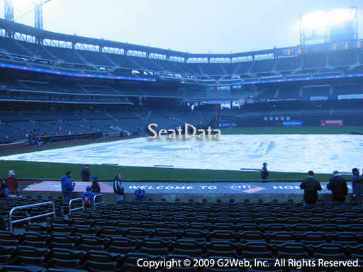 Seat view from section 113 at Citi Field, home of the New York Mets