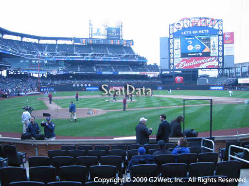Seat view from section 12 at Citi Field, home of the New York Mets