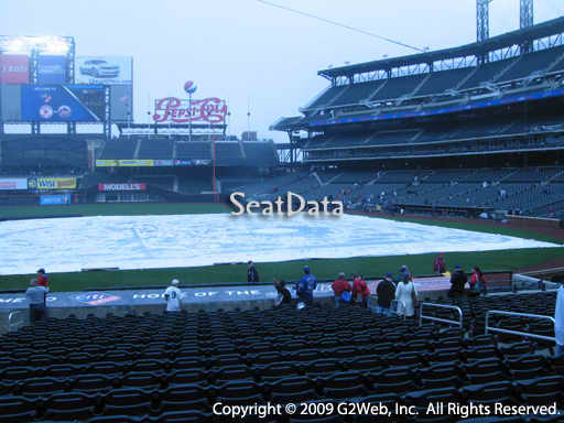 Seat view from section 122 at Citi Field, home of the New York Mets