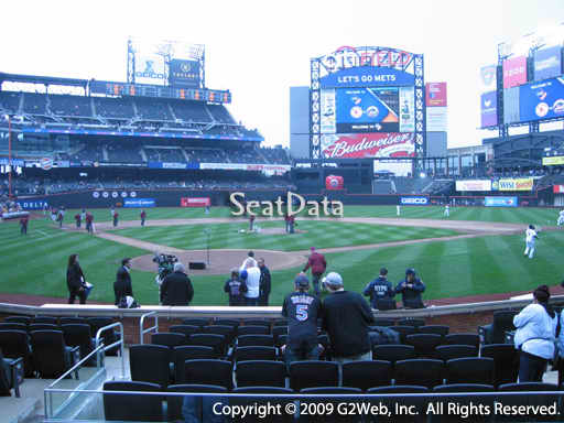 Seat view from section 13 at Citi Field, home of the New York Mets