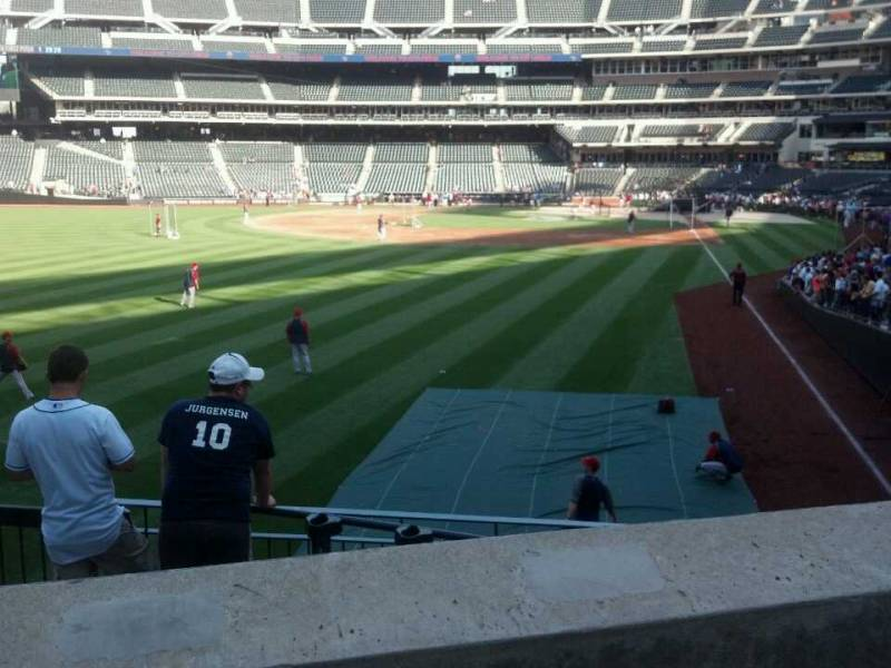 Seat view from section 132 at Citi Field, home of the New York Mets