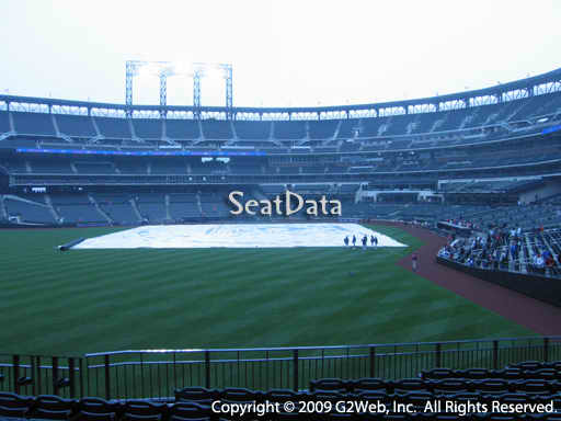 Seat view from section 134 at Citi Field, home of the New York Mets