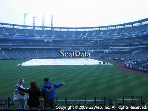 Seat view from section 135 at Citi Field, home of the New York Mets