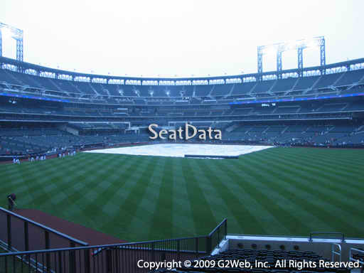 Seat view from section 142 at Citi Field, home of the New York Mets