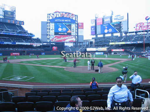 Seat view from section 16 at Citi Field, home of the New York Mets