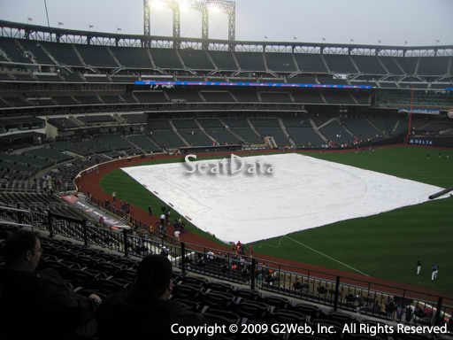 Seat view from section 307 at Citi Field, home of the New York Mets