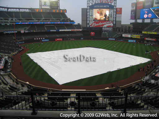 Seat view from section 318 at Citi Field, home of the New York Mets