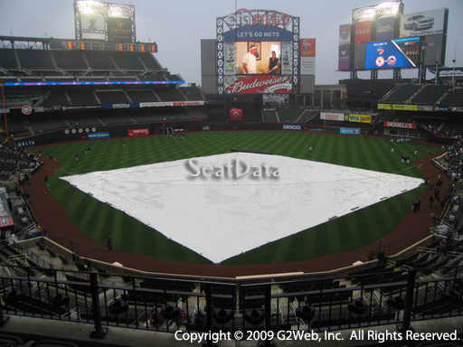 Seat view from section 319 at Citi Field, home of the New York Mets