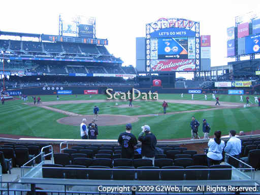 Seat view from section 4 at Citi Field, home of the New York Mets