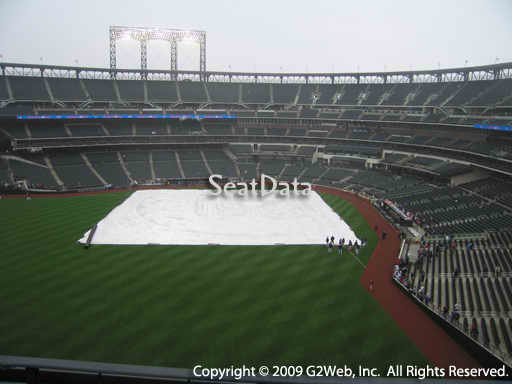 Seat view from section 433 at Citi Field, home of the New York Mets