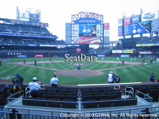 Seat view from section 5 at Citi Field, home of the New York Mets