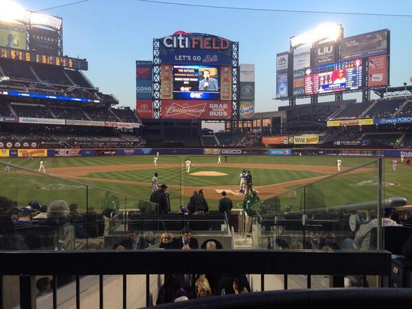 Seat view from section 6 at Citi Field, home of the New York Mets