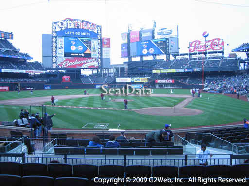 Seat view from section 8 at Citi Field, home of the New York Mets