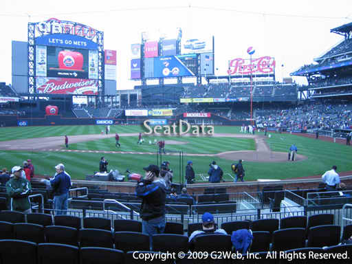 Seat view from section 9 at Citi Field, home of the New York Mets