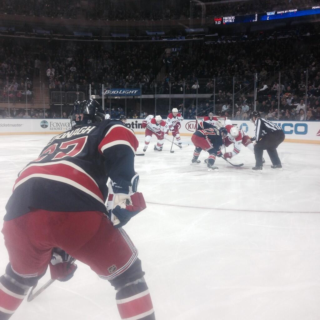 Seat view from section 12 at Madison Square Garden, home of the New York Rangers