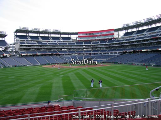 Seat view from section 100 at Nationals Park, home of the Washington Nationals