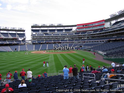 Seat view from section 104 at Nationals Park, home of the Washington Nationals