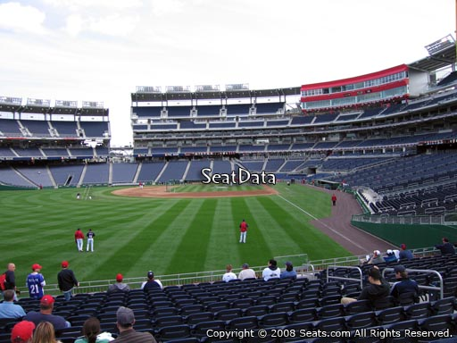 Seat view from section 105 at Nationals Park, home of the Washington Nationals