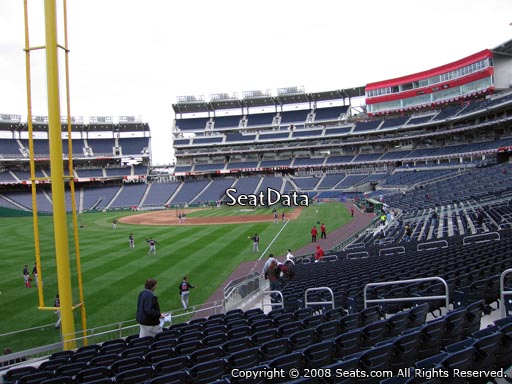 Seat view from section 107 at Nationals Park, home of the Washington Nationals