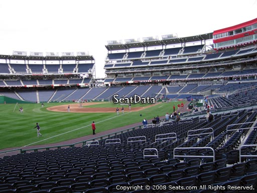 Seat view from section 109 at Nationals Park, home of the Washington Nationals