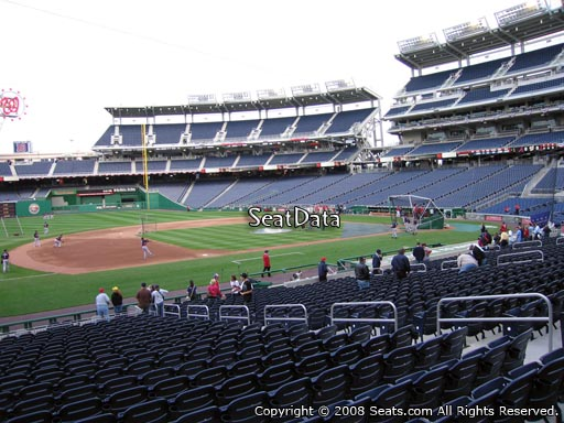 Seat view from section 114 at Nationals Park, home of the Washington Nationals
