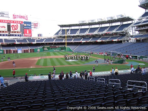 Seat view from section 116 at Nationals Park, home of the Washington Nationals