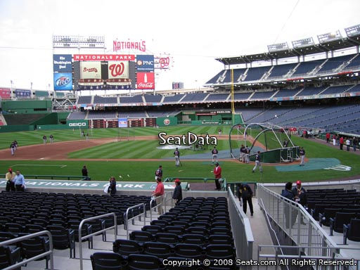 Seat view from section 118 at Nationals Park, home of the Washington Nationals
