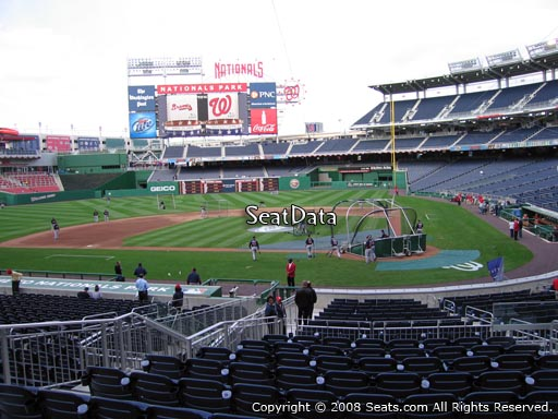 Seat view from section 119 at Nationals Park, home of the Washington Nationals