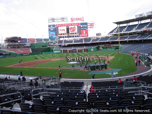 Seat view from section 120 at Nationals Park, home of the Washington Nationals