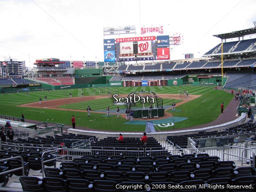 Seat view from section 121 at Nationals Park, home of the Washington Nationals