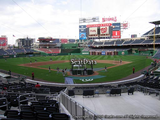 Seat view from section 122 at Nationals Park, home of the Washington Nationals