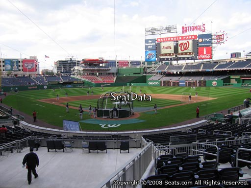 Seat view from section 123 at Nationals Park, home of the Washington Nationals