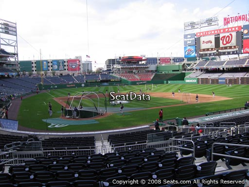 Seat view from section 125 at Nationals Park, home of the Washington Nationals