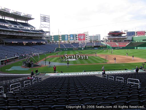 Seat view from section 128 at Nationals Park, home of the Washington Nationals