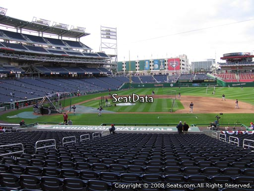 Seat view from section 129 at Nationals Park, home of the Washington Nationals