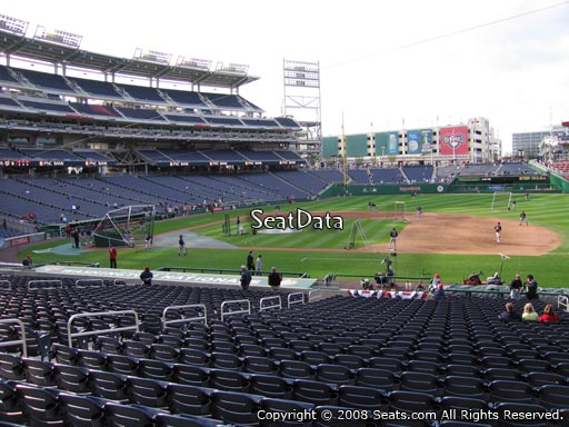 Seat view from section 130 at Nationals Park, home of the Washington Nationals