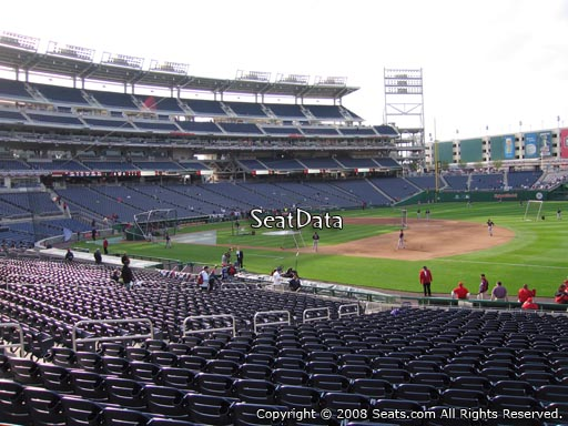 Seat view from section 132 at Nationals Park, home of the Washington Nationals