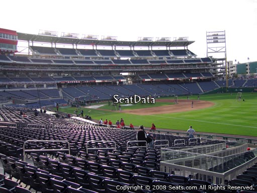 Seat view from section 134 at Nationals Park, home of the Washington Nationals