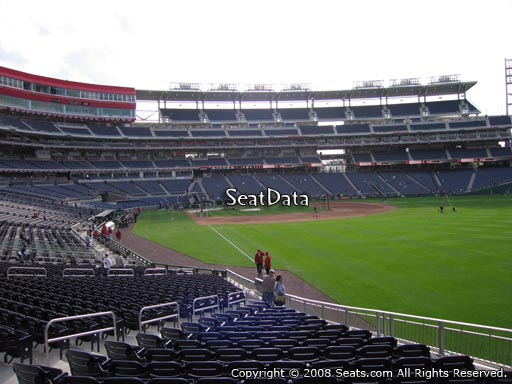 Seat view from section 137 at Nationals Park, home of the Washington Nationals