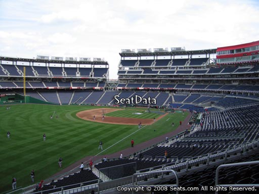 Seat view from section 201 at Nationals Park, home of the Washington Nationals