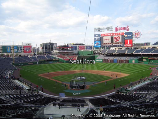 Seat view from section 214 at Nationals Park, home of the Washington Nationals