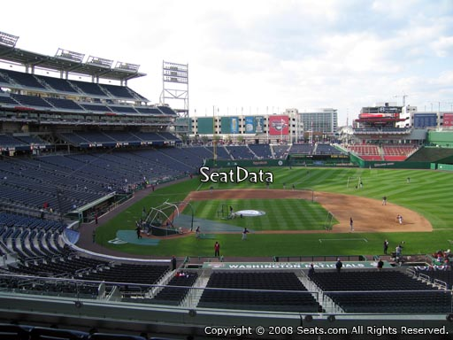 Seat view from section 218 at Nationals Park, home of the Washington Nationals