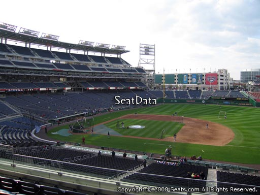 Seat view from section 220 at Nationals Park, home of the Washington Nationals