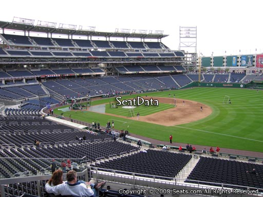 Seat view from section 223 at Nationals Park, home of the Washington Nationals