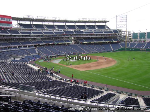Seat view from section 227 at Nationals Park, home of the Washington Nationals